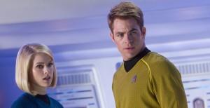 Star Trek Into Darkness Chris Pine Alice Eve grave concern