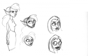 Trying out facial expressions