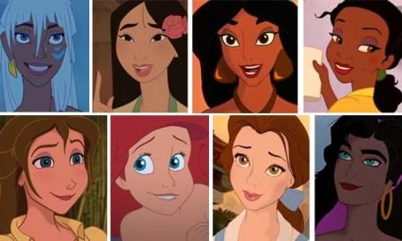 American BESM 2D Disney princesses