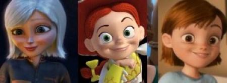 Animated female lookalikes