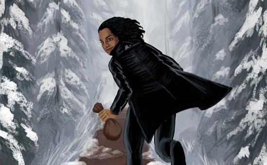 snowy road thief