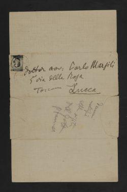 Giacomo Puccini, Lettera a Carlo Marsili con rebus, 31 gennaio 1910 (2) bassa
