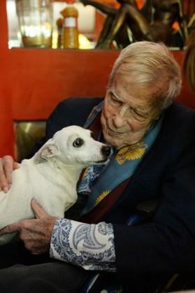 Franco Zeffirelli – Ritratto oon cane