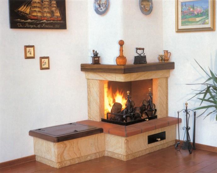 Camini pietra  Caminetto moderno 525  Toscana Marmi