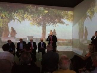 Un momento della conferenza stampa di oggi alle Terme di Diocleziano a Roma dove la Toscana a presentato i dati sul turismo nei borghi.