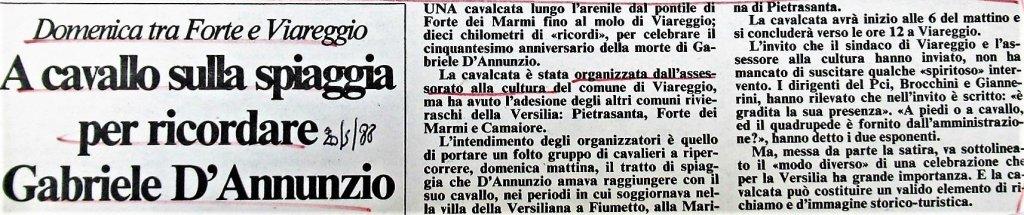Cavalcata dannunziana, 22 maggio 1988