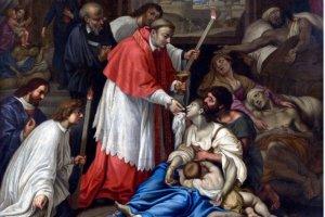 San Carlo Borromeo, affresco di Cesare Nebbia
