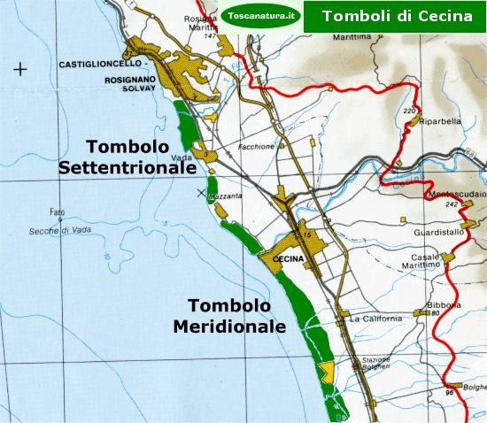 Riserva Naturale dello Stato Tomboli di Cecina  Scheda Riserva ToscaNaturait
