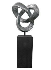 Edle exklusive Garten Skulptur in Form eines Knotens ...