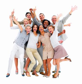 excited-group-of-business-people-isolated