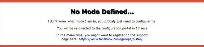 No Mode Defined