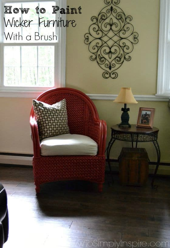 living room paint with dark brown furniture best color for 2018 how to wicker a brush - chair makeover