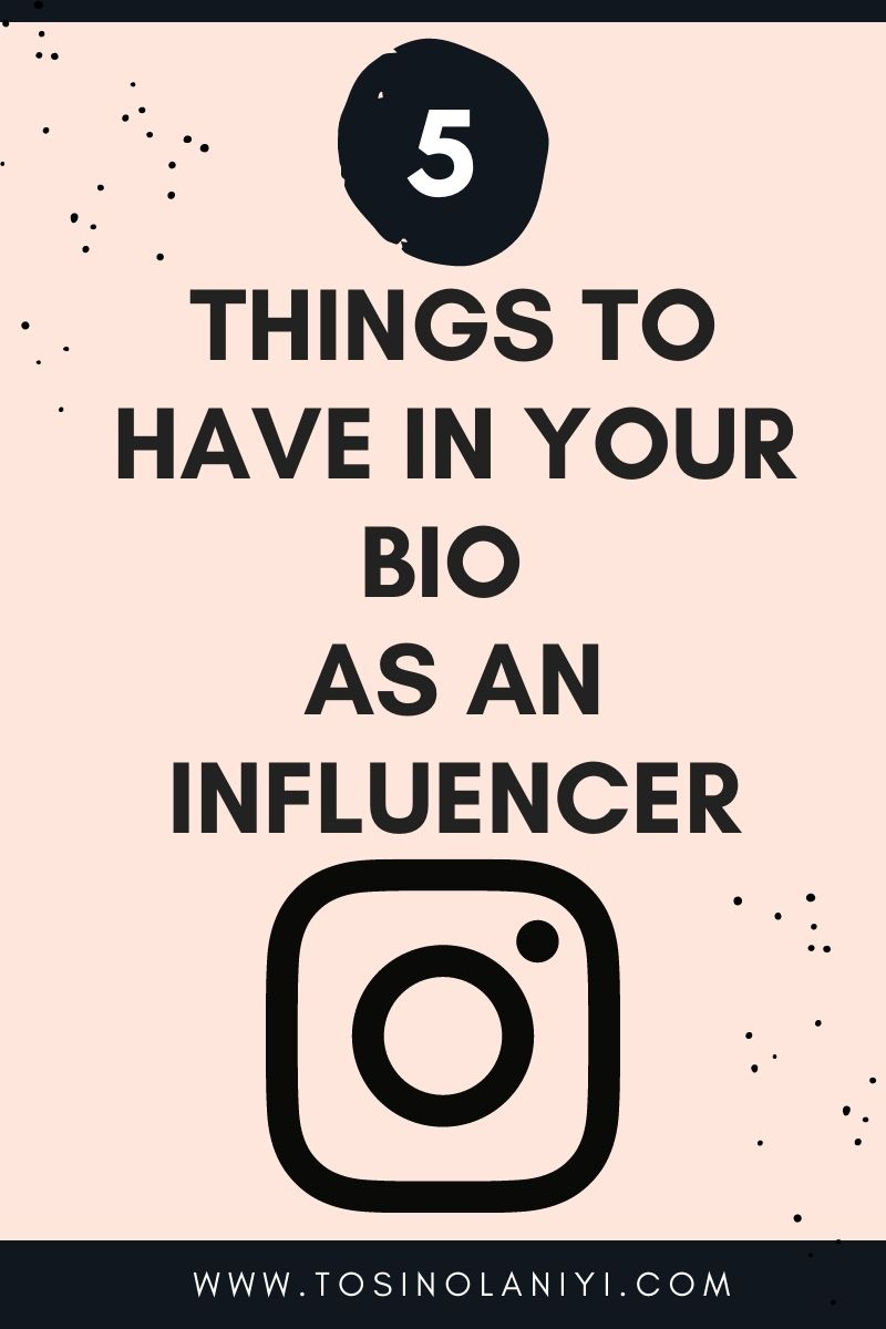 things to have in your bio as an influencer