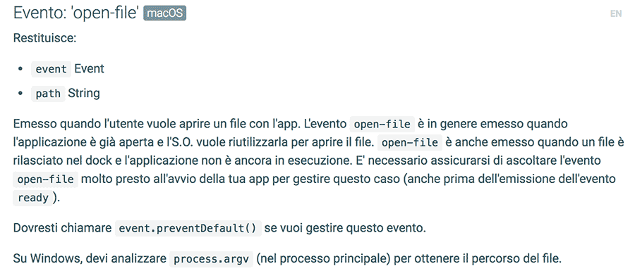 Electron API: app