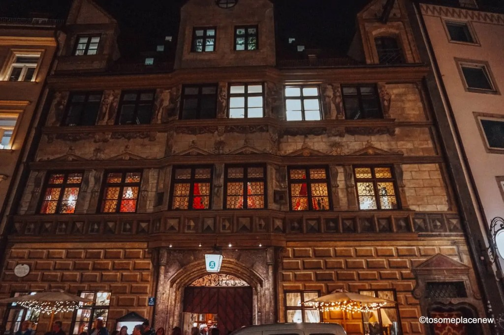 Bavarian Dinner at Hauxbaeur in Munich. The BEST Munich Itinerary for 3 days and upto a week. Read a day-by-day list of popular places like Marienplatz, day trips to Nuremberg, Dachau and more