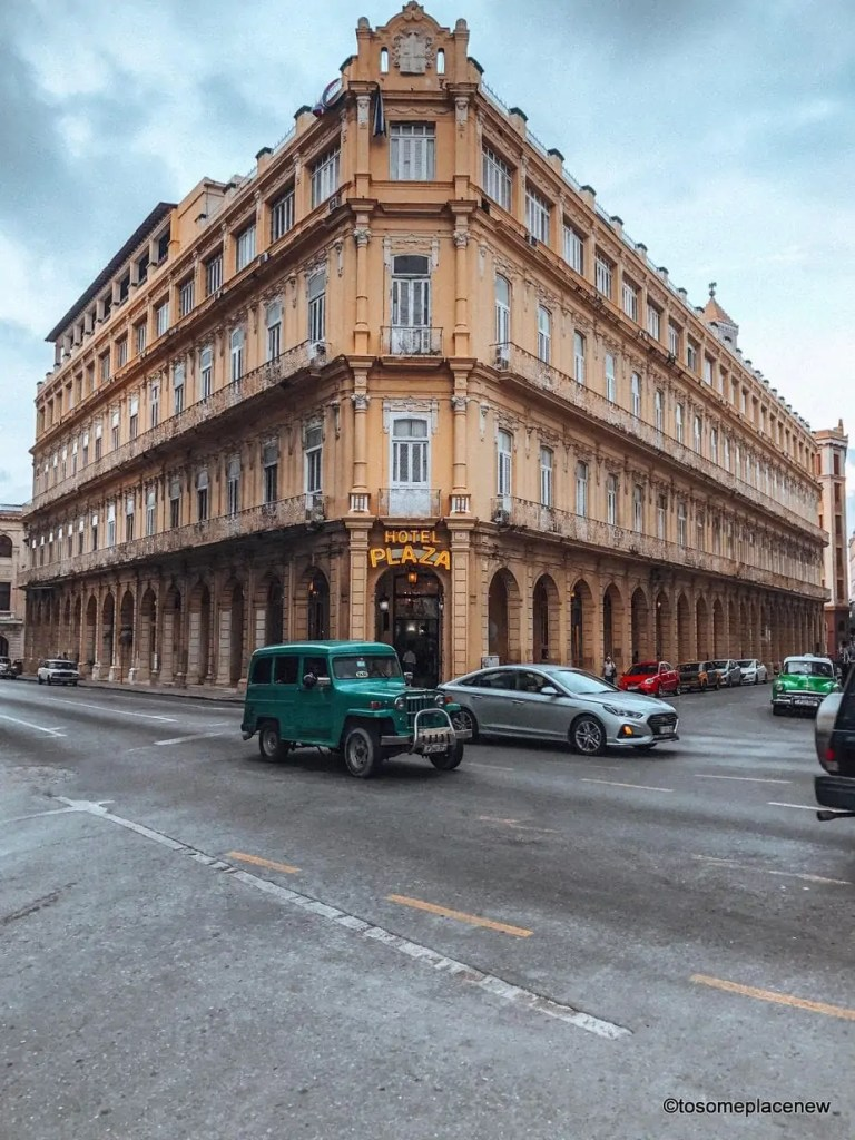 Photo of Hotel Plaza in Old Havana. So you got 3 days in Havana? Make the most of it! Visit the UNESCO Heritage Site of Old Havana, learn about the revolution era, explore the Spanish quarters, wander along the waterfront and drink some daiquiris! Plan your perfect Havana Itinerary right here