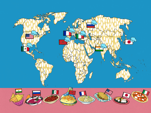 Map illustration by Tostini for WORLD Food - educational kids app