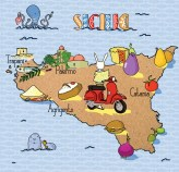 Sicilia Saporita in Scooter Jamie Magazine illustration by Tostoini