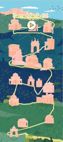 Sacro Monte Kids full map illustration by tostoini