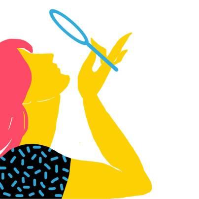 Girl lineless concept illustration for Gartbage 2018