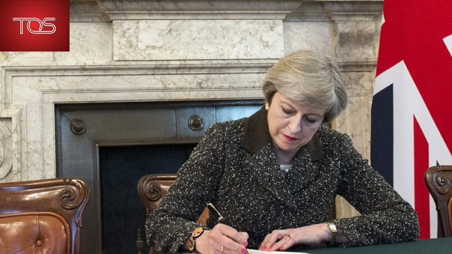 British Prime Minister signs letter to European Council setting out withdraw from the European Union
