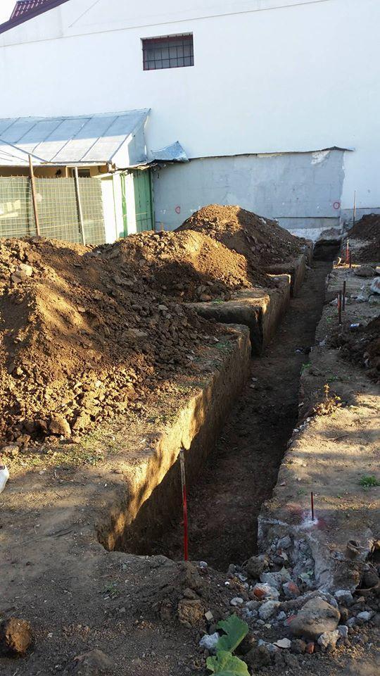 Cost fundatie casa in Buvuresti incepere in 2017 - Saparea fundatiei- Galerie foto