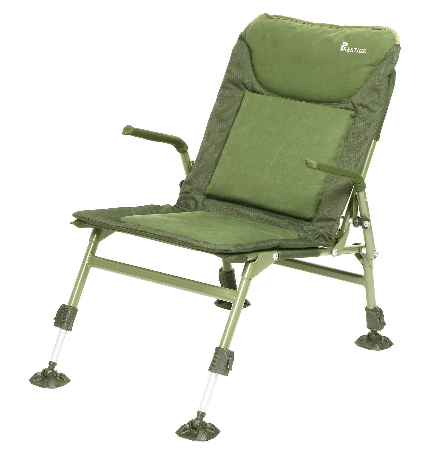fishing chair with arms swivel height extender prestige lightweight folding arm
