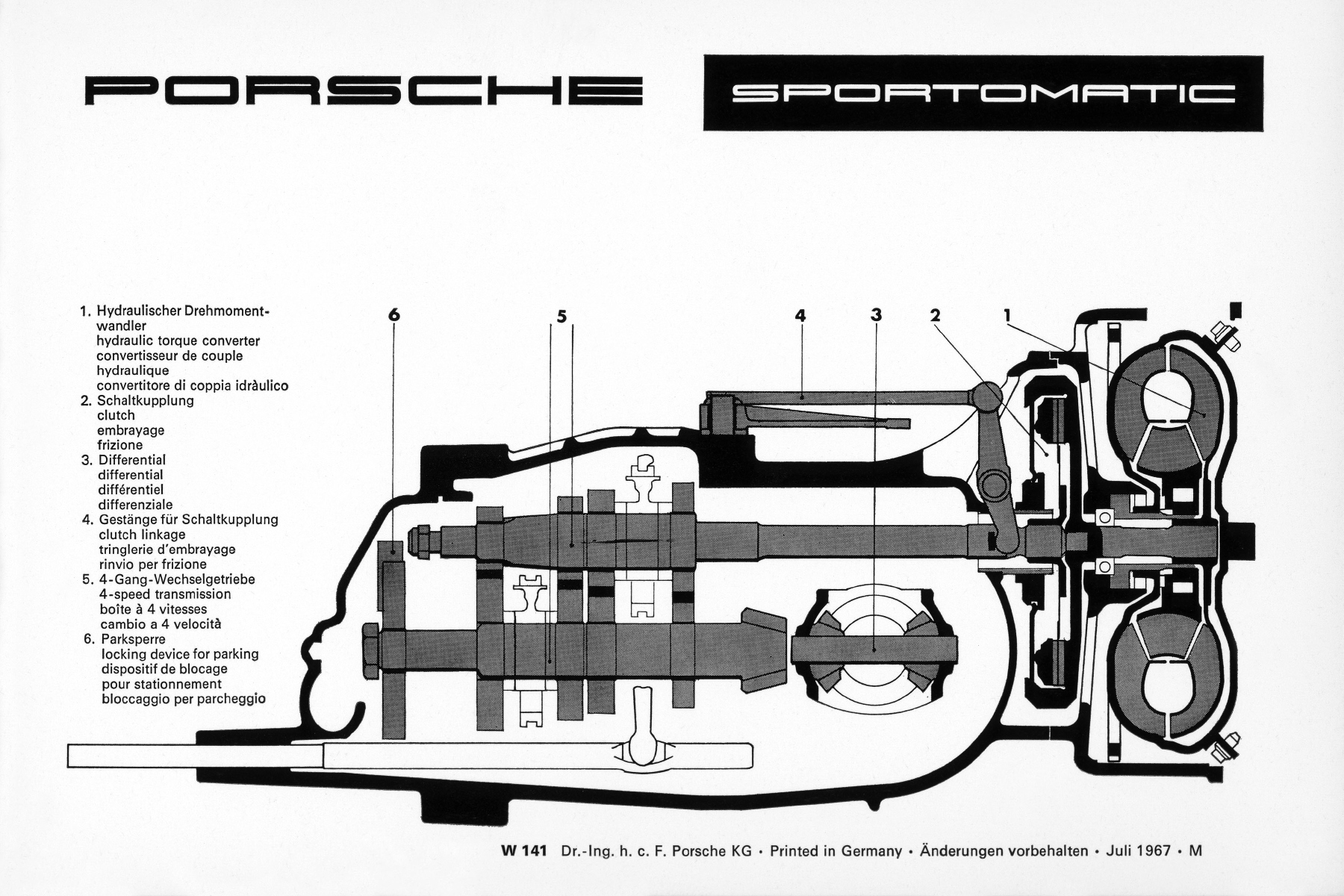 Porsche 911 Transmission. automatic gearbox a porsche 911