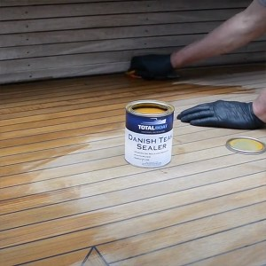 TotalBoat Danish Teak Sealer application