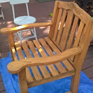 Bench chair finished with TotalBoat Danish Teak Sealer