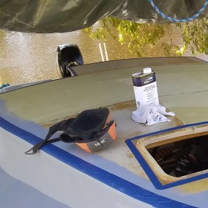 TotalBoat Dewaxer & Surface Prep in use -03