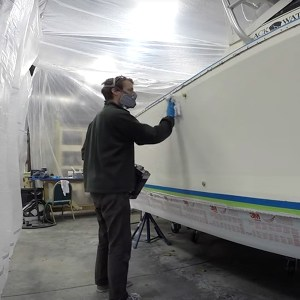 TotalBoat Dewaxer & Surface Prep in use -04