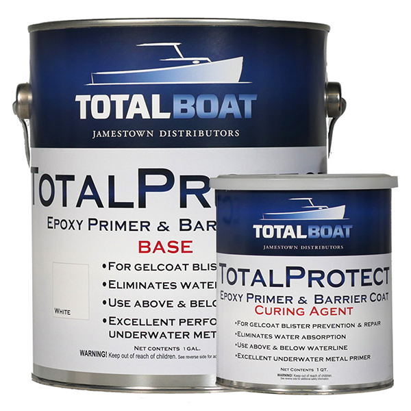 9be456a9601 TotalBoat TotalProtect Gelcoat Blister Barrier Coat Epoxy Primer White  Gallon