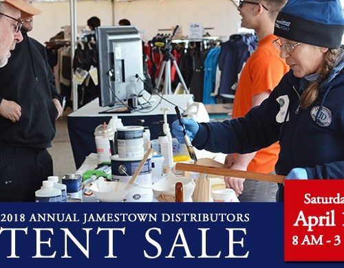 jamestown distributors tent sale