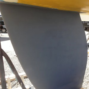 TotalBoat TotalProtect applied to a rudder