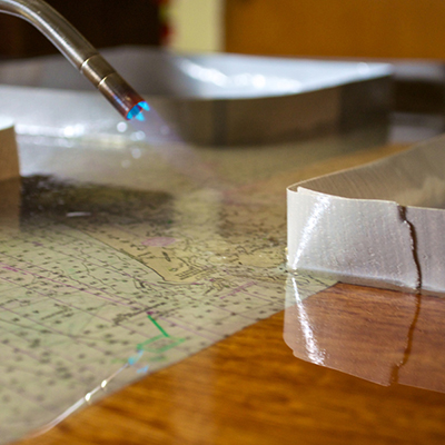 TotalBoat TableTop Epoxy using a torch to remove air bubbles