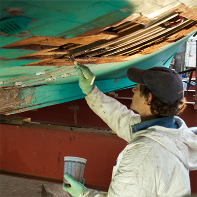 Applying TotalBoat Penetrating Epoxy to Rotted Wood