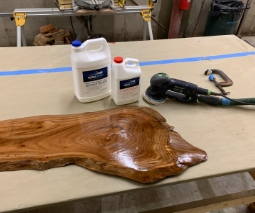 TotalBoat Epoxy River Table Project Step 2 - Seal & Sand the Wood