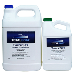 TotalBoat ThickSet Clear Deep Casting Epoxy 3:1 Mix Ratio