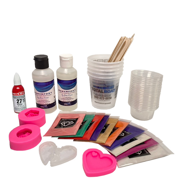 TotalBoat Epoxy Valentine Kit with TotalBoat MakerPoxy by Jess Crow