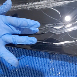 TotalBoat Epoxy Black Marble Kit Step 9 - Feather in the Marbling