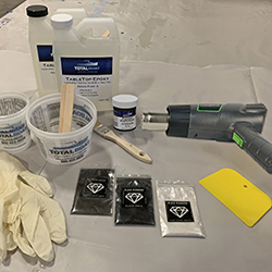 TotalBoat Epoxy Black Marble Kit Step 1 - Lay Out Materials