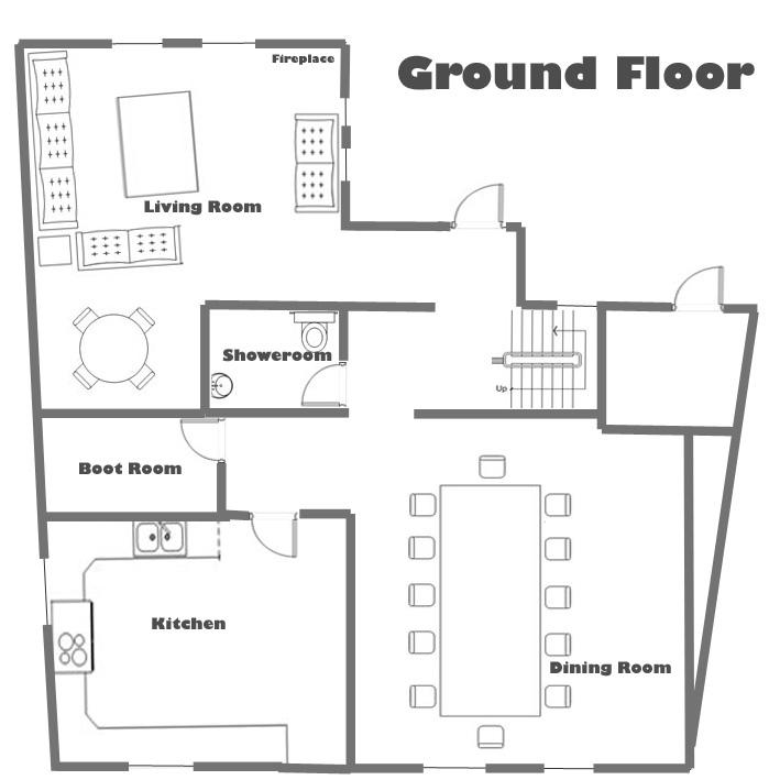 Chalet Soltir  Ground Floor Plan  Total Chalets