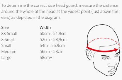 dipped foam head size guide