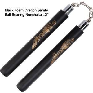 Black Foam Safety Ball Bearing Nunchaku