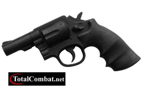 Reallistic TP Rubber Black Revolver Barrel Gun