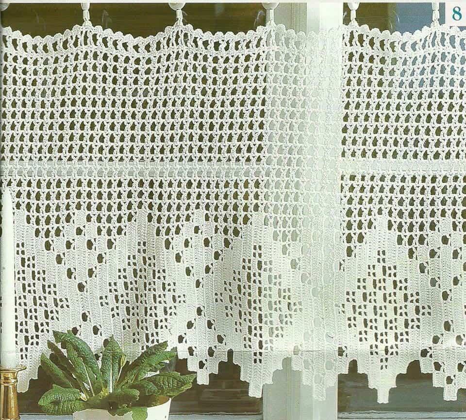 Cortina de croch para cozinha  Total Construo