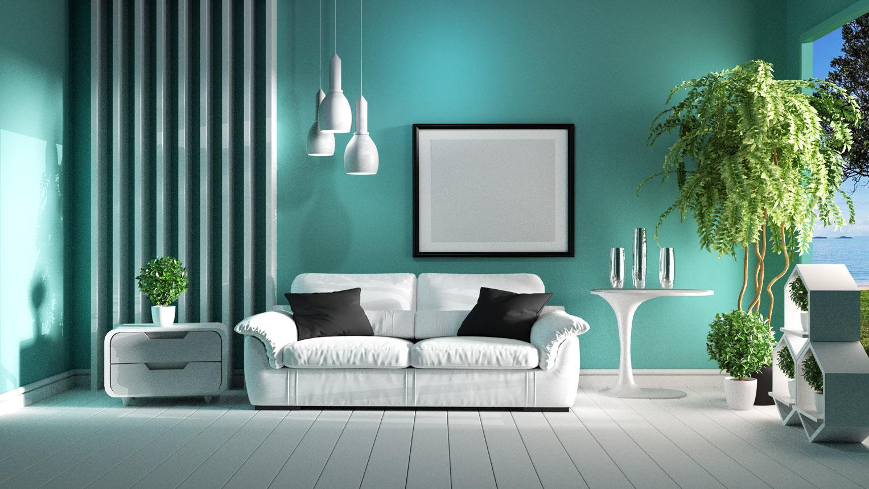 Dipingere le pareti di verde può essere una valida opzione per restituire luminosità a un soggiorno non troppo ampio o comunque buio. Verde Acqua Significato Pareti Abbinamenti E Come Si Fa