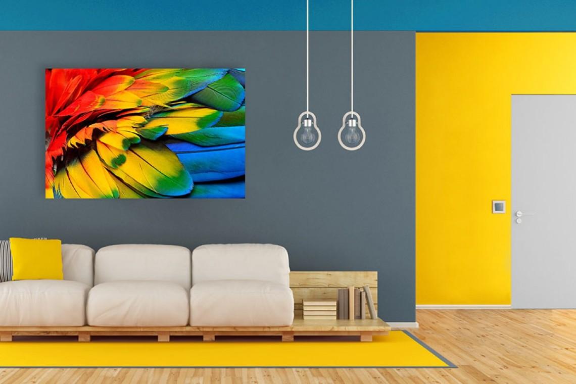Ora è di tendenza l'abbinamento di due tonalità: Pareti Colorate Particolari O Moderne Idee E Esempi