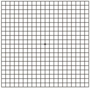 picture of Amsler Grid for monitoring macular degeneration